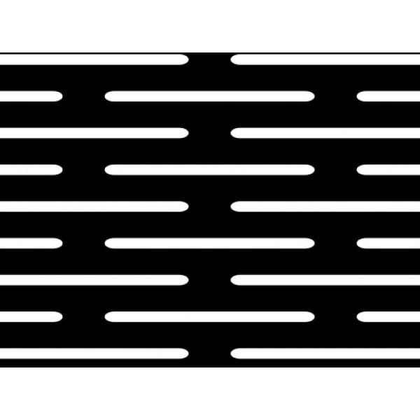 Черна перфорирана ламарина 1,0 x 20 mm от Metalen.bg