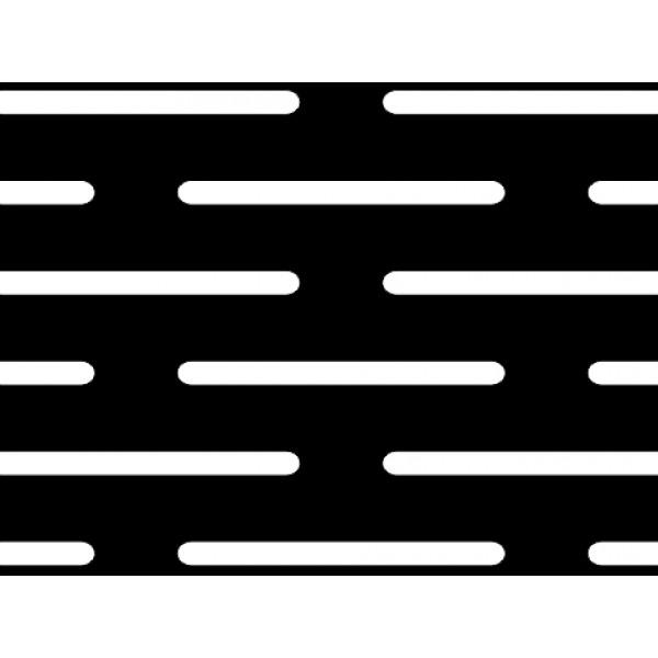 Черна перфорирана ламарина 1,5 x 20 mm