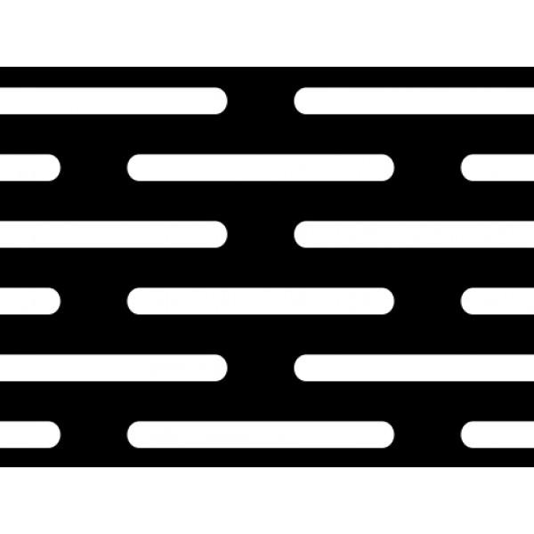 Черна перфорирана ламарина 2 x 20 mm