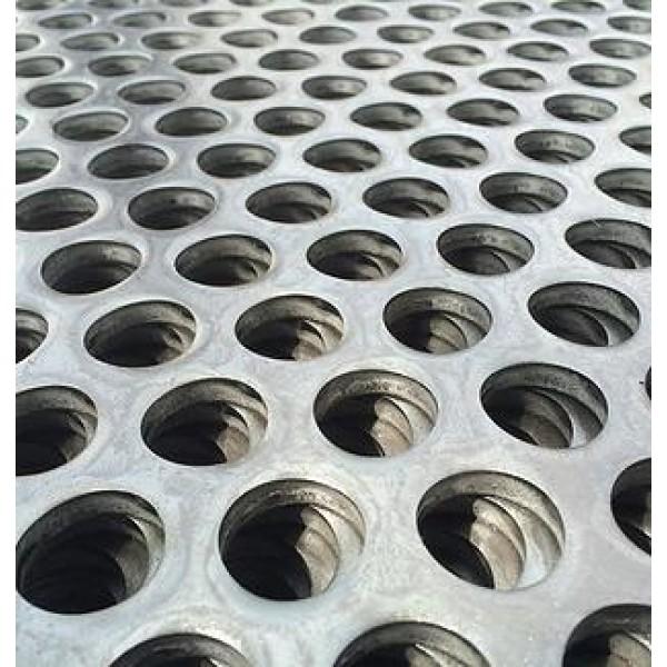 Перфорирана ламарина с кръгли отвори