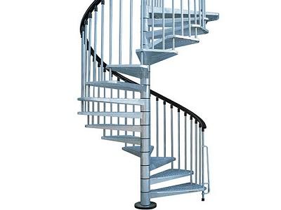 Елегантни спираловидни метални стълби